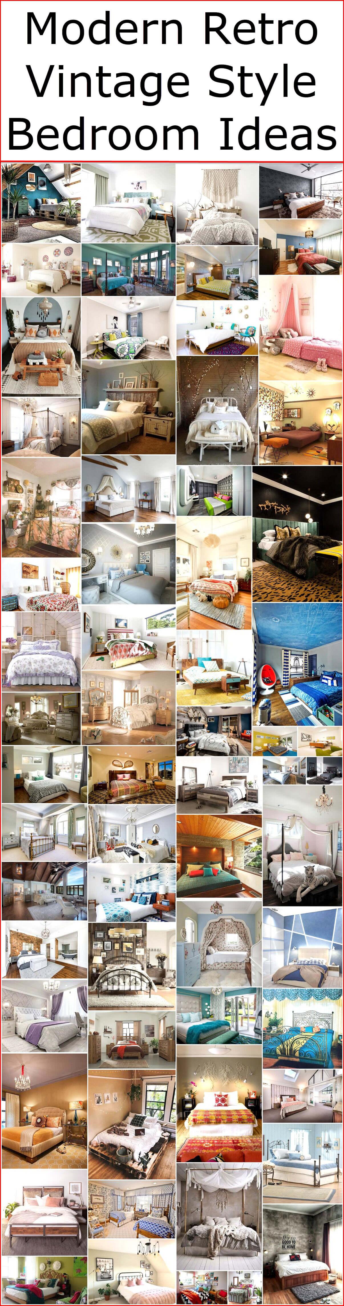 Modern Retro Vintage Style Bedroom Ideas